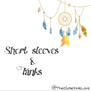 Short sleeve tops and tanks